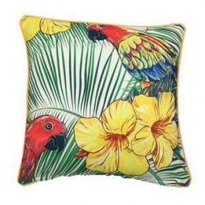 Parrot Red Face Outdoor Cushion 45 x 45cm