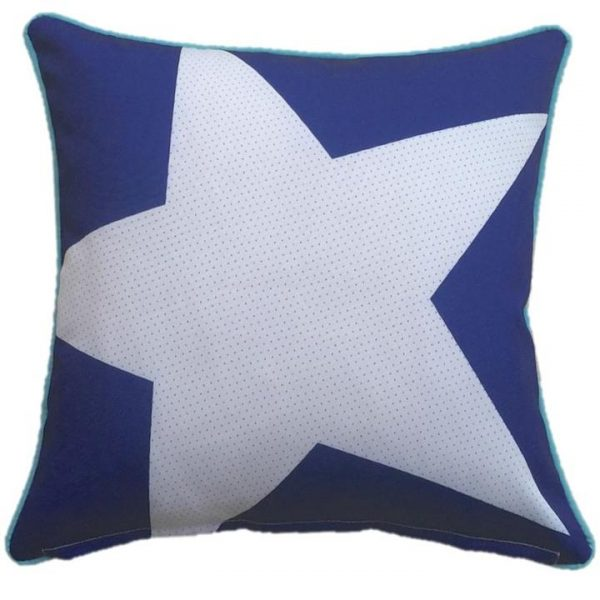 Star Blue Outdoor Cushion Cover 45 x 45cm
