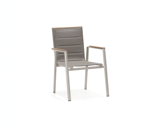 Geneva Teak Arm Dining Chair By Indosoul - Outdoor Chairs