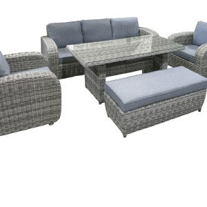 Genova 5pce Luxury Outdoor Sofa - Rattan Wicker Outdoor Furniture