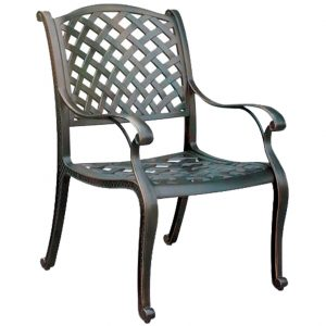 Nassau Cast Aluminium Dining Chair with Cushion