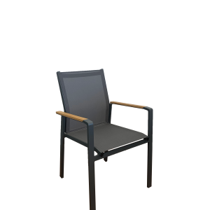 Fina Timber Arm Dining Chair - Outdoor Chairs