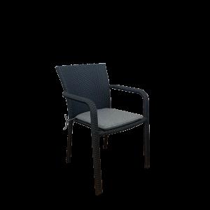 Chevron Arm Chair Black - Outdoor Chairs