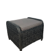 Yarra Outdoor PE Wicker Ottoman & Cushion
