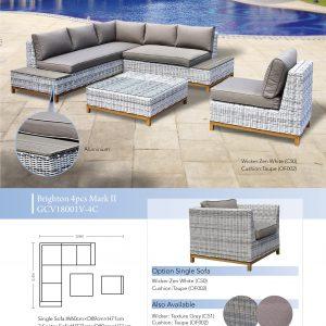 BrigBrighton Mark 2 Modular 4pce Loungehton 4pce Modular Lounge