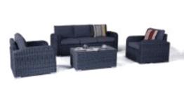 Miami 4pce Full Lounge Setting - Castle Grey