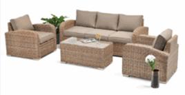 Miami 4pce Full Lounge Setting - Marina