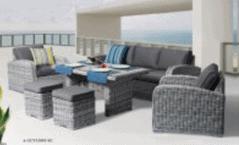 Miami 6pce Casual Dining Lounge Setting Zen White