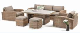 Miami 6pce Casual Dining Lounge Setting - Marina