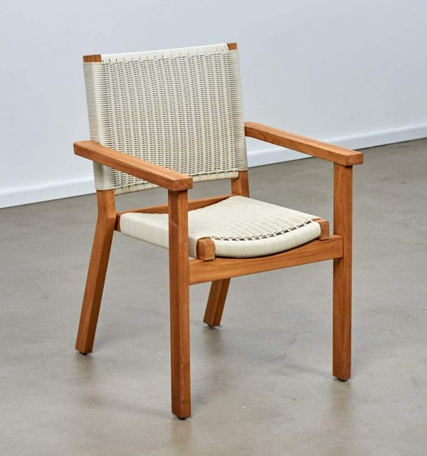 Corfu Teak Dining Chair White
